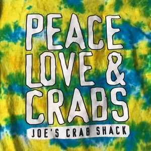 Vintage Tops - Vintage Tie Dyed Joe's Crab Shack Tee